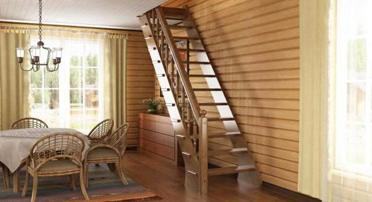 Лестница на 2 этаж в частном доме