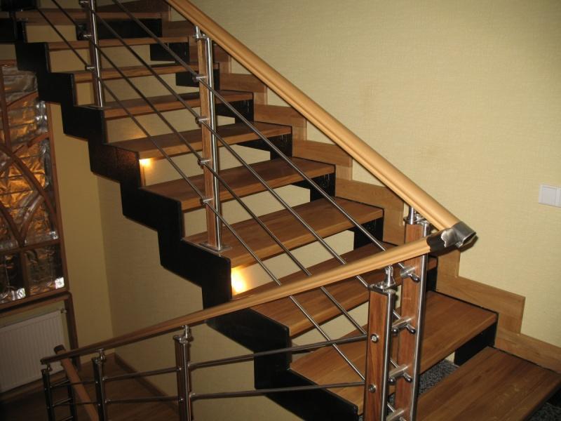 Лестница металлическая для частного дома своими руками