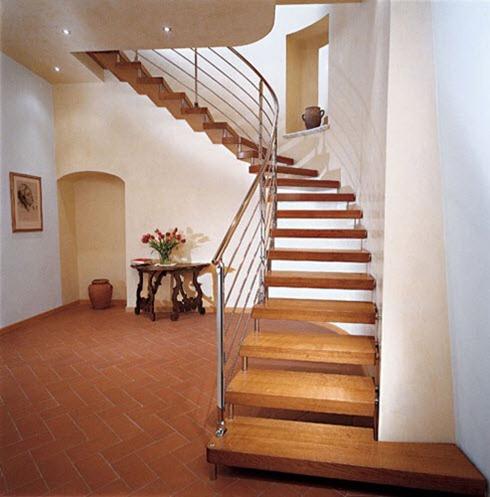 Сквозная лестница винтовая