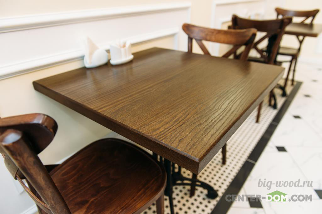 Столешница для стола из массива дуба Раковина из искусственного камня corian Ольгово